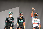 Slovakian Champion Peter Sagan (SVK) Bora-Hansgrohe at sign on before the start of Stage 8 of the 2021 Tour de France, running 150.8km from Oyonnax to Le Grand-Bornand, France. 3rd July 2021.  <br /> Picture: A.S.O./Charly Lopez | Cyclefile<br /> <br /> All photos usage must carry mandatory copyright credit (© Cyclefile | A.S.O./Charly Lopez)