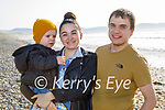 Enjoying the afternoon in Banna on Tuesday, l to r: Valerie, Daniel and Vitalii Baluta.