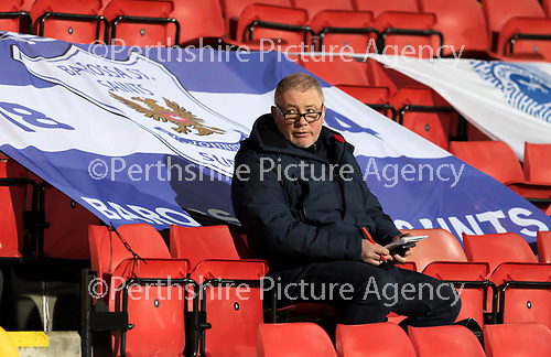 St Johnstone v Dundee United…10.11.20   McDiarmid Park      BetFred Cup<br />Ally McCoist who was commentating for Premier Sports<br />Picture by Graeme Hart.<br />Copyright Perthshire Picture Agency<br />Tel: 01738 623350  Mobile: 07990 594431