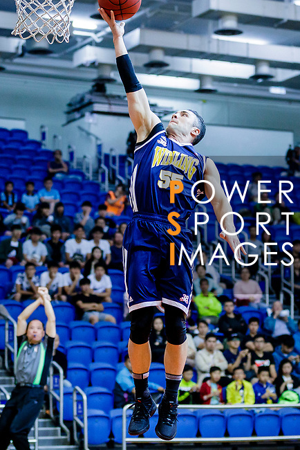 Kepkey Tyler Alexander #55 of Winling Basketball Club goes to the basket against the Nam Ching during the Hong Kong Basketball League game between Nam Ching vs Winling at Southorn Stadium on May 11, 2018 in Hong Kong. Photo by Yu Chun Christopher Wong / Power Sport Images