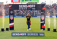 EAST HARTFORD, CT - JULY 5: Casey Krueger #20 of the USWNT waves to the crowd during a game between Mexico and USWNT at Rentschler Field on July 5, 2021 in East Hartford, Connecticut.