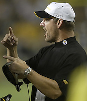 07 September 2006: Pittsburgh Steelers' head coach Bill Cowher during their game against the Miami Dolphins at Heinz Field in Pittsburgh, Pennsylvania.<br />