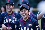 #5 Natsuki Hiruta of Japan laughing during the BFA Women's Baseball Asian Cup match between Pakistan and Japan at Sai Tso Wan Recreation Ground on September 4, 2017 in Hong Kong. Photo by Marcio Rodrigo Machado / Power Sport Images