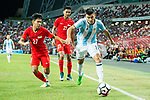 Carlos Correa of Argentina (R) in action against Nazrul Nazari of Singapore (L) during the International Test match between Argentina and Singapore at National Stadium on June 13, 2017 in Singapore. Photo by Marcio Rodrigo Machado / Power Sport Images