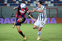 Arkadiusz Reca of FC Crotone and Enrico Chiesa of Juventus FC compete for the ball during the Serie A football match between FC Crotone and Juventus FC at stadio Ezio Scida in Crotone (Italy), October 17th, 2020. Photo Federico Tardito / Insidefoto