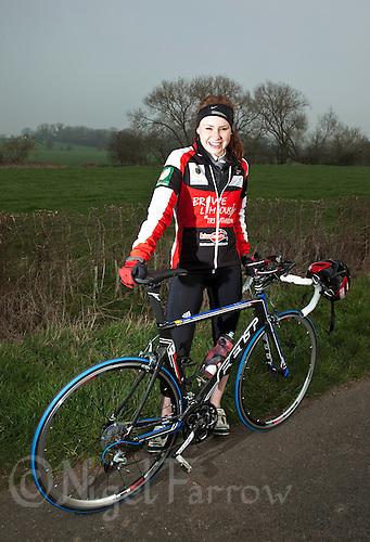 22 MAR 2012 - LOUGHBOROUGH, GBR - British triathlete Lucy Hall .(PHOTO (C) 2012 NIGEL FARROW)