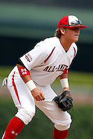August 8, 2009:  Infielder/Pitcher Stetson Allie (24) of Team One during the Under Armour All-America event at Wrigley Field in Chicago, IL.  Photo By Mike Janes/Four Seam Images