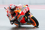 Marc Marquez (93) in action during the first practice session of the Red Bull Grand Prix of the Americas race at the Circuit of the Americas racetrack in Austin,Texas.