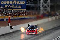 Nov. 1, 2008; Las Vegas, NV, USA: NHRA funny car driver Ron Capps during qualifying for the Las Vegas Nationals at The Strip in Las Vegas. Mandatory Credit: Mark J. Rebilas-