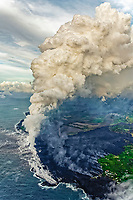 Fissure 8 eruptions and lava flows, Kapoho, Puna, Big Island, Hawaii, USA, Pacific Ocean