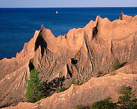 Formations at Chimney Bluffs State Park on Lake Ontario; Wayne County; Chimney Bluffs State Park, NY