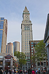View of Marriott's Custom House from Quincy Market, Boston, MA