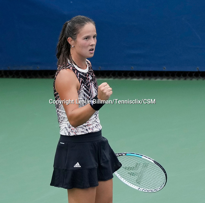 September  1, 2021:  Daria Kasatkina (RUS) defeated Marketa Vondrousova (CZE)  3-6, 6-4, 6-4,at the US Open being played at Billy Jean King Ntional Tennis Center in Flushing, Queens, New York. Leslie Billman/Tennisclix/CSM/CSM