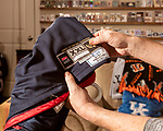 November 27, 2019. Cary, North Carolina.<br /> <br /> A game worn and authenticated Tayshaun Prince Team USA Basketball jersey. <br /> <br /> Jimmy Mahan, a former social worker and banker, has a massive collection of sports memorabilia. His collection spans his days as a kid growing up in Kentucky and loving UK basketball all the way through high collectible classic baseball cards, jerseys and sneakers.