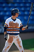 Canisius College Golden Griffins left fielder Tim Kensinger (10) during the second game of a doubleheader against the Michigan Wolverines on February 20, 2016 at Tradition Field in St. Lucie, Florida.  Michigan defeated Canisius 3-0.  (Mike Janes/Four Seam Images)