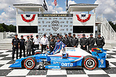 Verizon IndyCar Series<br /> Kohler Grand Prix<br /> Road America, Elkhart Lake, WI USA<br /> Sunday 25 June 2017<br /> Scott Dixon, Chip Ganassi Racing Teams Honda podium<br /> World Copyright: Michael L. Levitt<br /> LAT Images