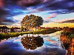 Sunset at Grand Canal Drimnagh, Dublin