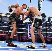 CARSON, CA - MAY 1: Sebastian Fundora vs Jorge Cota on the Fox Sports PBC Pay-Per-View fight on May 1, 2021 at Dignity Health Sports Park in Carson, CA. (Photo by Frank Micelotta/Fox Sports/PictureGroup)