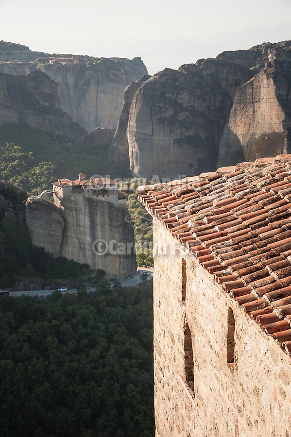 Holy Monastery of Rousanou/St. Barbara from Verlaam Monastery, Meteora, Greece