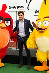 """Spanish tennis player David Ferrer during the presentation of the film """"Angry Birds"""" at the Flat Roof of Torre Picasso in Madrid. April 29,2016. (ALTERPHOTOS/Borja B.Hojas)"""