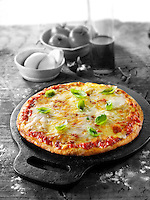 Italian cheese Pizza photo. Funky Stock pizzas photos
