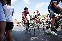 Castellon, SPAIN - SEPTEMBER 7: BMC biker during LA Vuelta 2016 on September 7, 2016 in Castellon, Spain