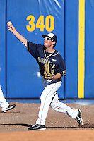 Pittsburgh Panthers Stephen Vranka #21 during a game vs. the Central Michigan Chippewas at Chain of Lakes Park in Winter Haven, Florida;  March 11, 2011.  Pittsburgh defeated Central Michigan 19-2.  Photo By Mike Janes/Four Seam Images