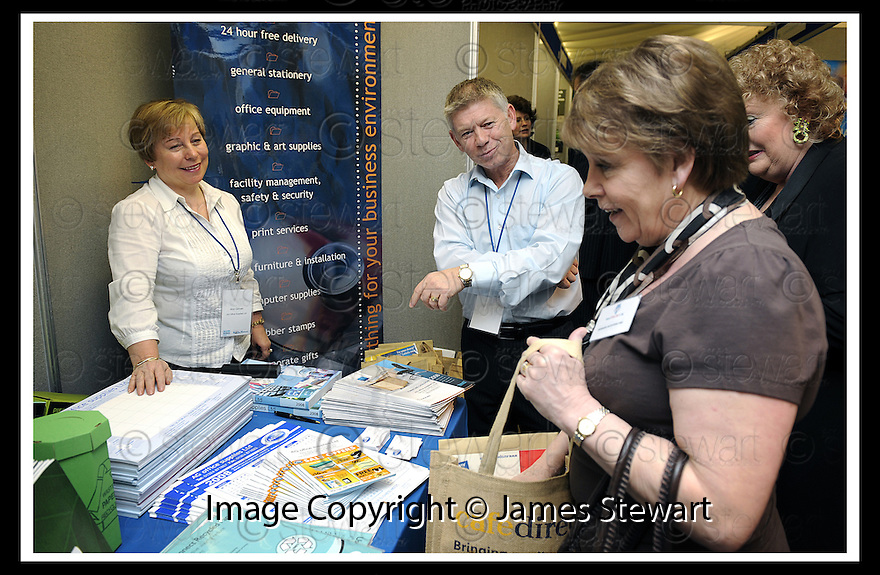 30/04/2008   Copyright Pic: James Stewart.File Name : 06_business_fair.FALKIRK BUSINESS FAIR 2008.AG OFFICE SUPPLIES.James Stewart Photo Agency 19 Carronlea Drive, Falkirk. FK2 8DN      Vat Reg No. 607 6932 25.Studio      : +44 (0)1324 611191 .Mobile      : +44 (0)7721 416997.E-mail  :  jim@jspa.co.uk.If you require further information then contact Jim Stewart on any of the numbers above........