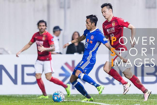 Eastern SC Defender Tsang Kam To (C) in action during the AFC Champions League 2017 Group G match between Eastern SC (HKG) vs Guangzhou Evergrande FC (CHN) at the Mongkok Stadium on 25 April 2017, in Hong Kong, China. Photo by Chung Yan Man / Power Sport Images