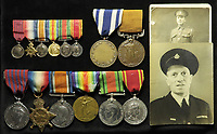 BNPS.co.uk (01202 558833)<br /> Pic: Lockdales/BNPS<br /> <br /> Pictured: Company Officer John Cornford's medals<br /> <br /> The bravery medal awarded to a hero Blitz firefighter who 'ran through a wall of flames' during a dramatic rescue has emerged for sale for £4,000.<br /> <br /> Company Officer John Cornford and his station officer risked their lives to save a man collapsed on a pavement between blazing street warehouses.<br /> <br /> They dodged falling debris to carry the injured man to safety following the German bombing of London.<br /> <br /> C/Off Cornford, of the London County Council Fire Brigade, received the George Medal for gallantry for his life-saving exploits during the December 29, 1940 incident.