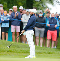 2nd July 2021; Mount Juliet Golf Club, Kilkenny, Ireland; Dubai Duty Free Irish Open Golf, Day Two; Rory Mcilroy of Northern Ireland reacts to a missed putt on the 13th hole