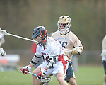 Ole MIss' Patrick Fulton (36) vs. Georgia Tech's Zach illevich (36) in lacrosse at the Ole Miss Intramural Fields in Oxford, Miss. on Saturday, February 2, 2013. Georgia Tech won 8-5.