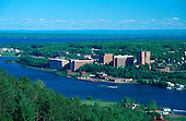 Michigan Technological University along the shore of the Portage Canal in Houghton Michigan, in the Upper Peninsula.