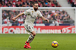 Real Madrid's Dani Carvajal during La Liga match between Atletico de Madrid and Real Madrid at Wanda Metropolitano Stadium in Madrid, Spain. February 09, 2019. (ALTERPHOTOS/A. Perez Meca)