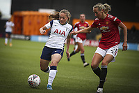 10th October 2020, The Hive, Canons Park, Harrow, England; Angela Addison Tottenham Hotspur battles for possession with Millie Turner   Manchester United, ManU during for womens Super League game between Tottenham Hotspur and Manchester United