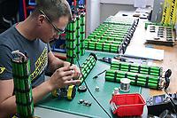 CROATIA, Sveta Nedelja near Zagreb, Rimac Automobili, Greyp e-bike manufacturing , Li-Ion battery pack assembling / KROATIEN, Sveta Nedelja bei Zagreb , Rimac Automobili, Unternehmen Greyp Elektrofahrrad Herstellung, Li-Ionen Batterie Zusammenbau