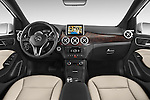 Stock photo of straight dashboard view of a 2014 Mercedes Benz B-Class Electric Drive 5 Door MPV Dashboard
