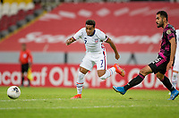GUADALAJARA, MEXICO - MARCH 24: Jonathan Lewis #7 of the United States moves with the ball during a game between Mexico and USMNT U-23 at Estadio Jalisco on March 24, 2021 in Guadalajara, Mexico.