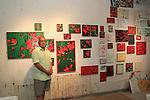 Arlan Huang at Gowanus Open Studio 10/18/14