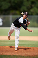 Jack Crowder during the WWBA World Championship at the Roger Dean Complex on October 19, 2018 in Jupiter, Florida.  Jack Crowder is a right handed pitcher from Romeoville, Illinois who attends Plainfield East High School and is committed to Illinois.  (Mike Janes/Four Seam Images)