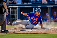 7 March 2019: New York Mets outfielder Braxton Lee slides home safely in the 7th inning to tie the Spring Training Game against the Washington Nationals at the Ballpark of the Palm Beaches in West Palm Beach, Florida. The Nationals defeated the visiting Mets 6-4 in Grapefruit League, pre-season play. Mandatory Credit: Ed Wolfstein Photo *** RAW (NEF) Image File Available ***