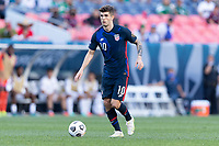 DENVER, CO - JUNE 3: Christian Pulisic #10 of the United States during a game between Honduras and USMNT at EMPOWER FIELD AT MILE HIGH on June 3, 2021 in Denver, Colorado.