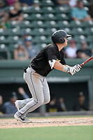 Third baseman Bobby Homeyman (3) of the West Virginia Power bats in a game against the Greenville Drive on Sunday, May 19, 2019, at Fluor Field at the West End in Greenville, South Carolina. Greenville won, 8-4. (Tom Priddy/Four Seam Images)