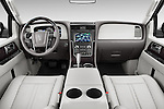 Stock photo of straight dashboard view of2015 Lincoln Navigator Select 5 Door SUV Dashboard