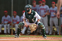 Dartmouth Big Green catcher Matt MacDowell (29) during a game against the Ball State Cardinals on March 7, 2015 at North Charlotte Regional Park in Port Charlotte, Florida.  Ball State defeated Dartmouth 7-4.  (Mike Janes/Four Seam Images)