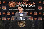 Opening Plenary Meeting of the Nelson Mandela Peace Summit<br /> <br /> <br /> Greece