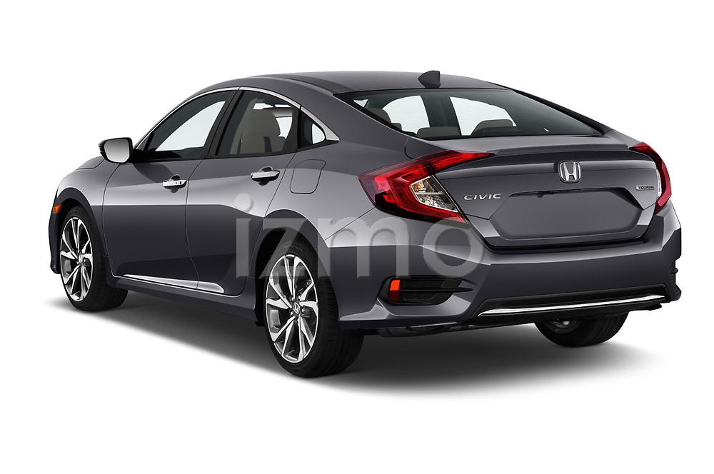 Car pictures of rear three quarter view of 2021, 2020, 2019 Honda Civic-Sedan Touring 4 Door Sedan Angular Rear