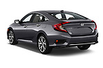 Car pictures of rear three quarter view of 2021, 2020, 2019 Honda Civic-Sedan Touring 4 Door Sedan Angular Rear