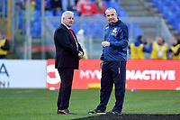 Warren Gatland, Wales coach, and Conor O'Shea, Italy coach.<br />  <br /> Roma 9-02-2019 Stadio Olimpico<br /> Rugby Six Nations tournament 2019  <br /> Italy - Wales <br /> Foto Antonietta Baldassarre / Insidefoto