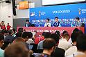 Soccer: FIFA World Cup Rusia 2018: Japan press conference at Volgograd Arena